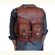 Load image into Gallery viewer, Full Grain Leather Dual use Backpack Briefcase Premium Leather