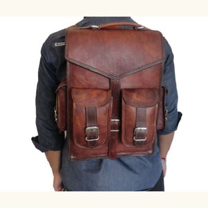Full Grain Leather Dual use Backpack Briefcase Premium Leather