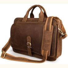Load image into Gallery viewer, Full Grain Leather Messenger/laptop Bag Premium Leather