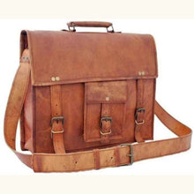 Load image into Gallery viewer, Full Grain Leather Messenger/satchel Bag Premium Leather