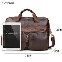 Load image into Gallery viewer, Glenlivet full Grain Leather Briefcase Unisex Messenger/laptop Bag Premium Leather