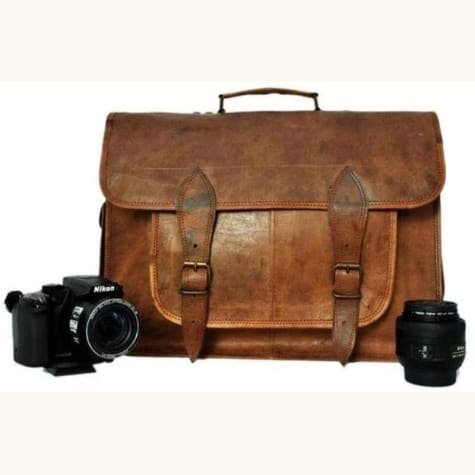 Goat Leather Classic Vintage Camera Bag Premium Leather