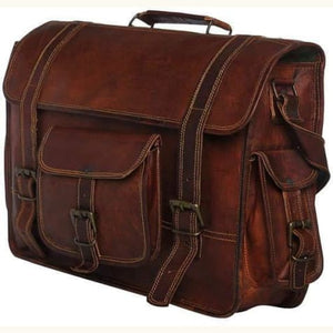 Goat Leather Computer Messenger/laptop Bag Premium Leather