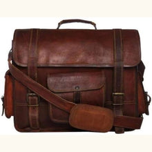 Load image into Gallery viewer, Goat Leather Computer Messenger/laptop Bag Premium Leather