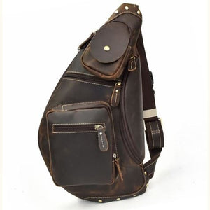 Grande Vintage Crazy Horse Leather Chest/crossbody Bag Premium Leather
