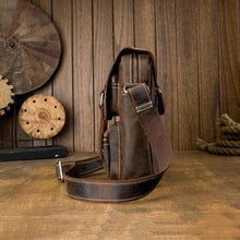 Load image into Gallery viewer, Handcrafted Crazy Horse Leather Messenger/satchel Bag Premium Leather