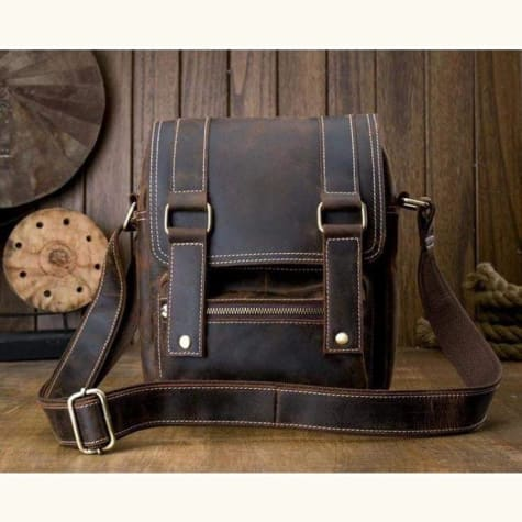 Handcrafted Crazy Horse Leather Messenger/satchel Bag Premium Leather