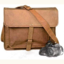 Load image into Gallery viewer, Handcrafted Leather Briefcase/laptop/messenger Bag Premium Leather