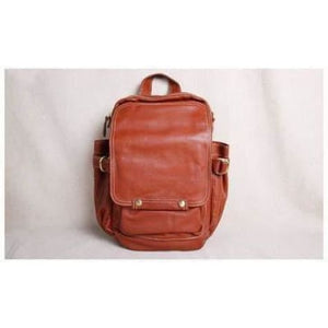 Handcrafted Leather Business/traveler & Student Backpack Brown Premium Leather