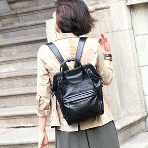 Handcrafted Luxurious Leather Travel Backpack Small Premium Leather