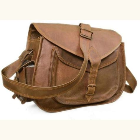 Handcrafted Natural Goat Leather Messenger/satchel Bag Premium Leather
