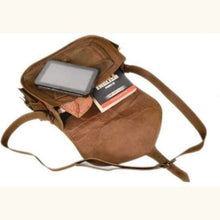 Load image into Gallery viewer, Handcrafted Natural Goat Leather Messenger/satchel Bag Premium Leather