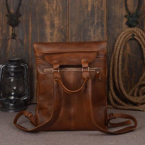 Handmade Designer Leather Backpack and Travel Bag Premium Leather