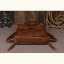 Load image into Gallery viewer, Handmade Designer Leather Backpack and Travel Bag Premium Leather