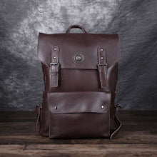 Load image into Gallery viewer, Handmade Designer Leather Backpack and Travel Bag Dark Brown Premium Leather