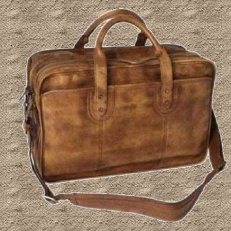 Handmade Leather Briefcase Laptop Bag/business Handbag Premium Leather