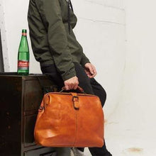 Load image into Gallery viewer, Handmade Leather Corssbody/hand & Doctor's Bag Coffee Premium Leather