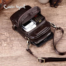 Load image into Gallery viewer, Hatch Designer Leather Small Crossbody Bag Coffee / 22cm X 13cm 8cm Premium Leather