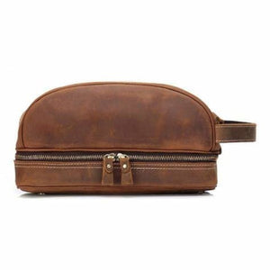 Haute Couture Crazy Horse Leather Casual Clutch/travel Bag Brown Premium Leather