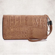 Load image into Gallery viewer, Hermosa Vintage Genuine Leather Patterned Clutch Bag Purse Premium Leather