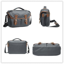 Load image into Gallery viewer, Imperméable Canvas Dslr Camera/messenger Bag Premium Leather