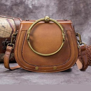 Impressionnant full Grain Leather Laptop Shoulder Bag Brown Premium Leather