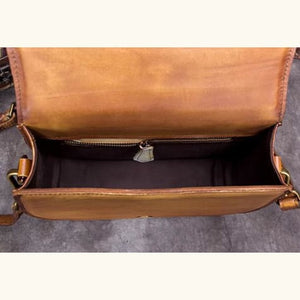 Impressionnant full Grain Leather Laptop Shoulder Bag Premium Leather