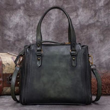 Load image into Gallery viewer, Incroyablement Belle Leather Laptop/satchel and Women's Handbag Greenish Black Premium Leather