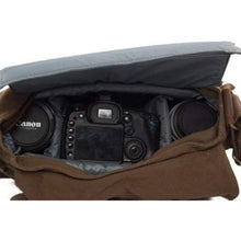 Load image into Gallery viewer, Khaki Coffee Canvas Dslr Camera/messenger Bag Premium Leather