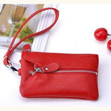 Load image into Gallery viewer, La Grange Authentic Leather Wrist Wallet & Clutch Red Premium Leather