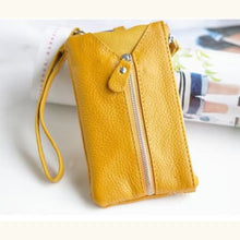 Load image into Gallery viewer, La Grange Authentic Leather Wrist Wallet & Clutch Yellow Premium Leather
