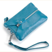 Load image into Gallery viewer, La Grange Authentic Leather Wrist Wallet & Clutch Blue Premium Leather