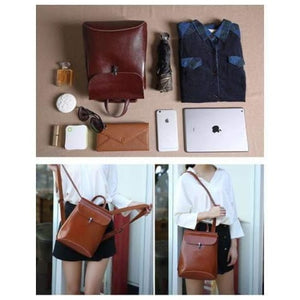 Ladies' Fashion Leather Crossbody Bag & Purse Premium Leather