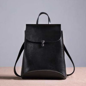 Ladies' Fashion Leather Crossbody Bag & Purse Black Premium Leather