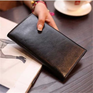 Ladies Leather Clutch Wrist Wallet /long Premium Leather