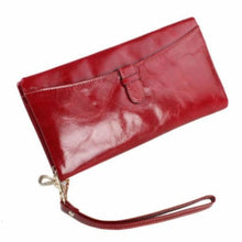 Load image into Gallery viewer, Ladies Leather Clutch Wrist Wallet/long Wallet Premium Leather