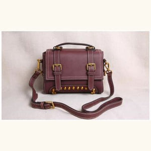 Ladies' Leather Organizer Purse/handbag Burgandy Premium Leather