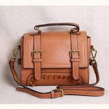 Load image into Gallery viewer, Ladies' Leather Organizer Purse/handbag Brown Premium Leather