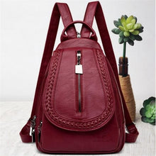 Load image into Gallery viewer, Ladies Sheepskin Leather Backpack and Cross Body Day Bag Premium Leather