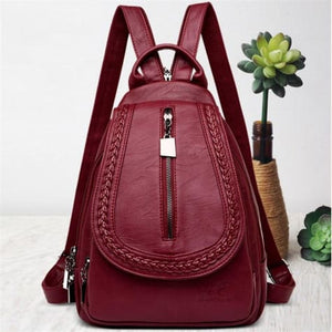 Ladies Sheepskin Leather Backpack and Cross Body Day Bag Premium Leather