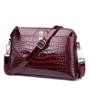 Larenia Luxurious Leather Shoulder Bag for Women Wine Red