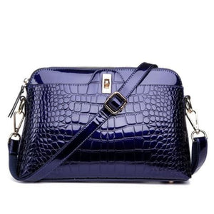 Larenia Luxurious Leather Shoulder Bag for Women Blue