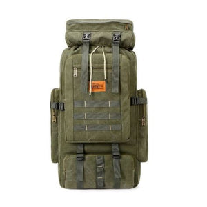 Large Capacity Outdoor Mountaineering Tactical Backpack Green 2 Premium Leather