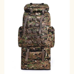 Large Capacity Outdoor Mountaineering Tactical Backpack Jungle Camouflage Premium Leather