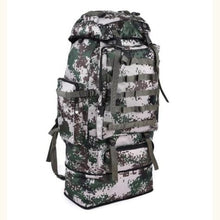 Load image into Gallery viewer, Large Capacity Outdoor Mountaineering Tactical Backpack Army Green Premium Leather