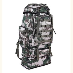 Large Capacity Outdoor Mountaineering Tactical Backpack Army Green Premium Leather