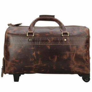 Large Classic Retro Leather Duffel & Luggage Bag Premium Leather