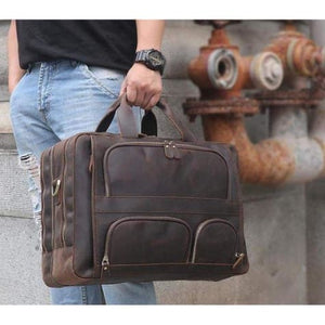 Large Crazy Horse Leather Messenger/shoulder Bag Premium Leather