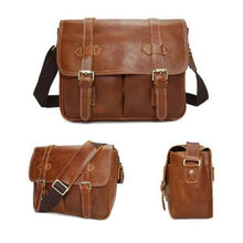 Load image into Gallery viewer, Le Marron full Grain Leather Dslr Camera/messenger Bag Premium Leather