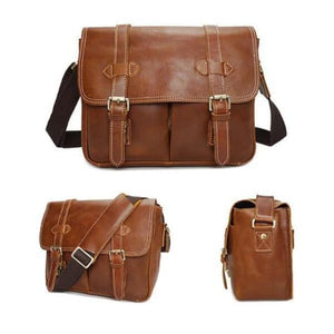 Le Marron full Grain Leather Dslr Camera/messenger Bag Premium Leather